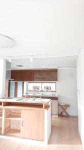 キッチン上部ガラス画像