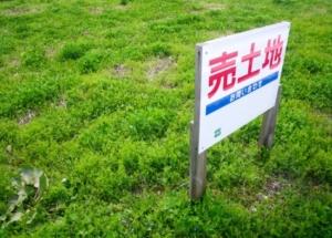 売土地看板がある土地の画像